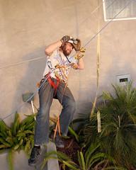 014 Ian Practices His Form (saschmitz_earthlink_net) Tags: 2017 california southerncaliforniagrotto christmasparty losangelescounty baldwinhills windsorhills party climbing practice