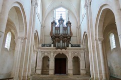 Abbaye de Pontigny - L'orgue (godran25) Tags: europe france bourgogne burgundy yonne pontigny citeaux cistercien cisterciens cistercians abbaye abbey église church abbatiale orgues organ sculpture bois wood pierre stone