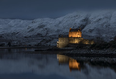 Dusk over Eilean Donan Castle, Kyle of Lochalsh, Scotland (MelvinNicholsonPhotography) Tags: eileandonancastle scotland dusk water longexposure castle