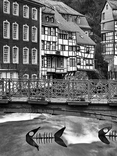 Monschau - historical town in the North Eifel - Germany