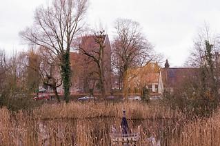 Berlin Buckow Dorfkirche Dorfteich 2018