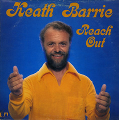 Reach Out (Jim Ed Blanchard) Tags: lp album record vintage cover sleeve jacket vinyl weird funny strange kooky ugly thrift store novelty kitsch awkward keath barrie canada reach out orange terry cloth beard creep dork goober