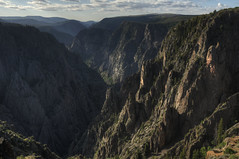 Tomichi Point, Black Canyon of the Gunnison HDR (Brandon Kopp) Tags: 18200mm blackcanyonofthegunnison canyon colorado d300 nationalpark nature nikon outdoor photomatix travel vacation montrose unitedstates tomichipoint landscape landscapephotography shadows