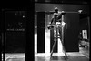 Great master of painting (明遊快) Tags: bw blackandwhite night city urban window painter japan japanese man light black