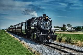 Historic railroad of Pennsylvania Dutch region. Engine no. 90.