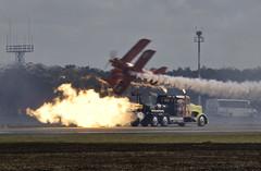 Jet and Piston (dcnelson1898) Tags: 2017wingsoverhouston airshow houston texas aviation airplanes unitedstatesairforce thunderbirds flightdemonstrationteam jet aerobatics