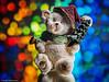 Macro Monday - #Member'sChoice-Bokeh (1.Versuch) (J.Weyerhäuser) Tags: bokeh hmm teddy weihnachten macromonday spiegel tanne glitzer memberschoicebokeh sundaylights christmasspirit