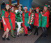 Elvish Presently (Andy WXx2009) Tags: elves cosplay portrait girls costumes fancydress fashion xmas bridgend people hats women party crowd femme colours festive minidress sexy legs beauty stockings wales europe socks santa style indoors brunette group
