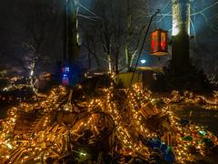 Mittelalter Lichter Weihnachtsmarkt (achim-51) Tags: baum beleuchtung licht lichterkette weihnachtsmarkt christmasmarket dortmund ruhrgebiet nrw nacht night panasonic lumix dmcg5