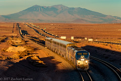 Amtrak 85 East: The Southwest Chief at Winslow, Arizona (Z-Trains) Tags: bnsf arizona seligman subdivision sub apache railroad apacherailroad seligmansubdivision northernarizona trains train alco mlw c420 c424