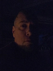 Day 2188: Day 363: Firelight (knoopie) Tags: 2017 december iphone picturemail firelight blackout doug knoop knoopie me selfportrait 365days 365daysyear6 year6 365more day2188 day363 clallam cozynewyear