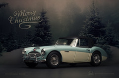 Merry Christmas Everyone ~ (aJ Leong) Tags: 1961 austin healey 3000 mk2 118 by kyosho classic car vintage vehicle scale model