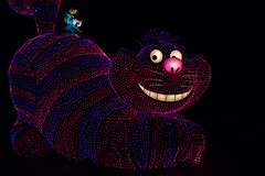 Cheshire Cat (jasohill) Tags: cat night blur hole creepy winter tokyo chiba cinderella man city cheshire disneyland evening alice amusment lights rabbit wonderland 2017 castle wise people dark photography life colors park dream japan motiom disney lonely exposure colorful