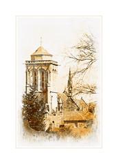 Locronan. (*Jost49*) Tags: france bretagne locronan église church saintronan texture monochrome nb bw canoneos7d inexplore