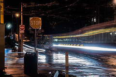 duboce avenue muni inbound train (pbo31) Tags: bayarea california nikon d810 color january 2018 winter boury pbo31 sanfrancisco city urban motionblur lightstream motion night dark black traffic roadway dubocetriangle muni tram train inbound