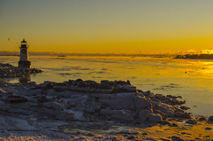 Sea Smoke at Fort Pickering (SarahRydgren) Tags: salemma winter winterisland massachusetts newengland love snow freezing sunrise dawn coast eastcoast