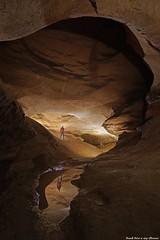 Romain et Guy dans la Galerie du Métro de la Grotte de la Malatière - Bournois (francky25) Tags: romain et guy dans la galerie du métro de grotte malatière bournois franchecomté doubs