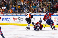 """Kansas City Mavericks vs. Kalamazoo Wings, January 5, 2018, Silverstein Eye Centers Arena, Independence, Missouri.  Photo: © John Howe / Howe Creative Photography, all rights reserved 2018. • <a style=""""font-size:0.8em;"""" href=""""http://www.flickr.com/photos/134016632@N02/38681931675/"""" target=""""_blank"""">View on Flickr</a>"""