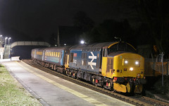 37402 sits at Cark (Ross Taylor pictures 2015) Tags: 37402 2017 uk england class37 cark cumbria 2c31 barrowinfurness lancaster