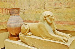 Queen Hatshepsut as a Sphinx, Egyptian Exhibits, Royal Ontario Museum, Toronto, ON (Snuffy) Tags: egyptianexhibits royalontariomuseum rom toronto ontario canada queenhatshepsut sphinx