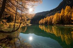 Lai da Palpuogna (brue') Tags: lai da palpuogna see lake mirror reflection grisons switzerland suisse schweiz palpuognasee albula bergün sun