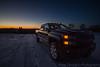 Chevy (karazavaglio) Tags: chevy silverado duramax diesel sunset light winter snow haze vehicle truck newengland newyork farm field canon wideangle