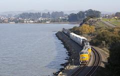 Short Friday Freight (imartin92) Tags: pinole california unionpacific freight train railroad emd sd60m sd59mx sd70m locomotive sanpablo bay
