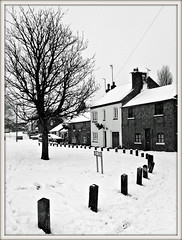 The 'White' Green (Jason 87030) Tags: white green snow fluffy stuff cold northants northamptonshire local walk thegreen cottages houses december 2017 flakes border frame bw bbw black noir blanc scene village image waether rare pretty exclusive capture explore exist amazing pro amateur snap photo super great fantastic world bright light art photograph new trip uk sky travel sweet yummy bestoftheday smile picoftheday life allshots look nice likes lol flickr photostream