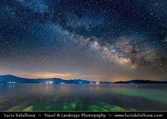 Macedonia (FYROM) - Galičica National Park - Great Prespa Lake - UNESCO Biosphere at Night under Milky Way (© Lucie Debelkova / www.luciedebelkova.com) Tags: galičicanationalpark prespalake prespa republicofmacedonia macedonia macedonian македонија makedonija републикамакедонија republikamakedonija fyrom fyrmacedonia formeryugoslavrepublicofmacedonia makedonie balkans balkanpeninsula southeasteurope europe water waterscape shoreline shore beach lake landscape nature scenery scenic outdoor outdoors outside sky night nightsky milkyway newmoon star stars astronomy astrophotography lowlight longexposure isosensitivity