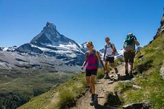 Matterhorn, Zmutt Valley,Höhbalmen Höhenweg trail. Zermatt, Switzerland, Europe. (Alpenwild Trips) Tags: europe switzerland ice landscape mountain people recreation sports peopler zermatt valais