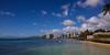 Waikiki Beach from Natatorium War Memorial (AFracturedCrown) Tags: waikiki beach hawaii aloha clouds blue