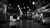 A boy said. It's over there!! (明遊快) Tags: street bw blackandwhite kobe japan chinatown 南京町 night light