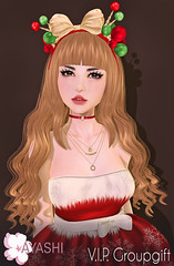 [^.^Ayashi^.^] Christmas V.I.P. group gift (Ikira Frimon) Tags: rigged hud anime m3 utilizator nice head mesh ayashi doll outfit hair blogger costume frimon ikira follow post blog fashion sl life second event girl beautifully special exclusive tsg kawaii kawai cute hairs sensuality lovely sexually cosplay secondlife wavy long averagelength medium quiff forelock bang bobbypin barrette bow curl heartbreaker kisscurl accessory headbands rim hairstyle christmasvipgroupgift christmas vip group gift
