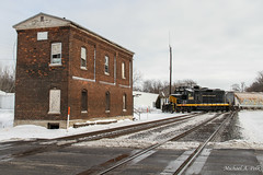 PREX 2045 @ Walkerton, IN (Michael Polk) Tags: pioneer rail corporation prex emd gp16 gp20 2045 1600 freight train elkhart western walkerton indiana nkp imc nickel plate indianapolis michigan city line
