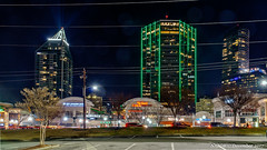 Atlanta, GA: Tower Place dressed for the night. Buckhead's first skyscraper from the 1970s (nabobswims) Tags: atlanta ga georgia hdr highdynamicrange ilce6000 lightroom nabob nabobswims night nightfoto photomatix sel18105g sonya6000 towerplace us unitedstates buckhead