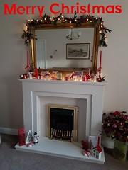 Merry Christmas (I line photography) Tags: merrychristmas christmasdecoration firesurround fireplace mirror mirrorimage garland christmaslights candles ilinephotography petephillips