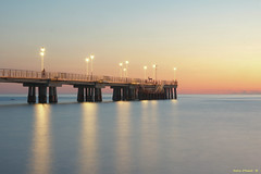 After the sunset in Marina di Massa (Darea62) Tags: bluehour sunset longexposure seascape streetlights marinadimassa sky architecture tuscany travel tramonto landscape panorama paesaggio sea mare toscana bridge stars pier jetty massa