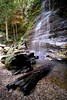 federal waterfall (rufnutz5) Tags: rocks samyang xt20 fujifilm log federalfalls lawson bushwalking bush waterfall bluemountains nsw