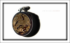 Time Warp (J Michael Hamon) Tags: watch stopwatch time warp white whitebackground vignette photoborder gears chronograph hamon nikon d3200 nikkor 40mm stilllife tabletop photomanipulation shadow concept conceptual surreal surrealism abstract