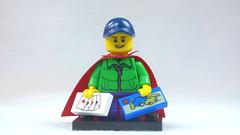 Brick Yourself Custom Lego Figure Kid with Cards & Box of Lego