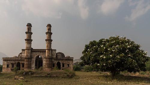 Mosquée à Champaner, Gujarat, Inde