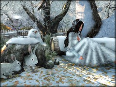 Frozen Forest Display (moonshagoreanstore) Tags: winter frozen cold ice snow forest fence bench log logs fern leaves dead burrow rabbits rabbit mesh sl second life gacha guardians event fair gimme moon sha moonsha moonlight shadow