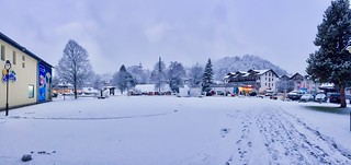 Winter panorama of Kiefersfelden, Bavaria, Germany