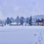 Winter panorama of Kiefersfelden, Bavaria, Germany thumbnail