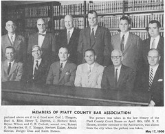 12 Members of the Piatt County Bar Association, Monticello, IL – May 1956 (RLWisegarver) Tags: piatt county history monticello illinois usa il