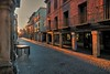 Sunset  winter over Compluteum (Alcalá de Henares). Puesta de Sol invernal sobre Compluteum: (MAURINO SAM) Tags: urbano alcaládehenares compluteum comunidaddemadrid atardecer navidad canong7x