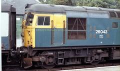 Dingwall 26043 10jun82 c292 (Ernies Railway Archive) Tags: dingwallstation farthernorthline lms hr scotrail