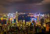Big City Lights (_gate_) Tags: hong kong victoria peak night cityscape view shot towers bank nd1000 weitwinkel angle wide wolken cloud clouds cloudy nikon city skyline 2017 november gate d750 avenue stars 香港 special administrative region peoples republic china stadt himmel gebäude wasser meer boot berg bucht tamron 1530mm vc
