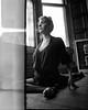 i took a deep breath... [redacted] (dwnicholsonphoto) Tags: model yoga naturallight natural nature leak lightleak window pose film analogue analog 120 70mm mamiya rb67 woman strong