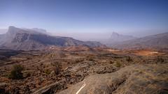 al hajar mountains oman (mariusz kluzniak) Tags: mariusz kluzniak middleeast arabian oman hajar mountains landscape haze rocky clear sky
